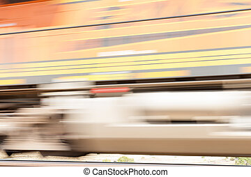 Transportation abstract fast moving