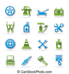 Transportation and car repair icons