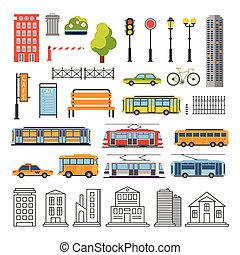 Transportation and City Traffic Infographics Elements....