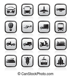 Transportation and travel icons