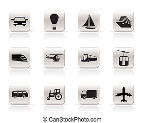 Transportation and travel icons -