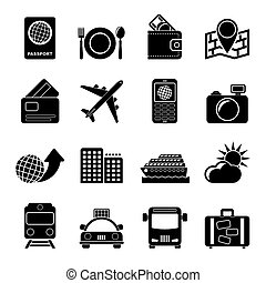 transportation and vacation icons