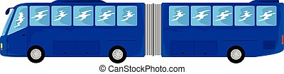 transportation articulated bus - blue trailer bus to ...