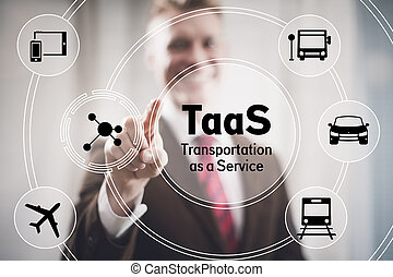 Transportation as a Service concept illustration