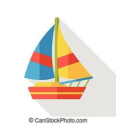 transportation boat flat icon