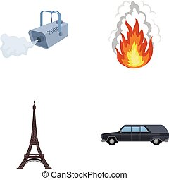 transportation, business, tourism and other web icon in cartoon style., car, hearse, funeral, icons in set collection.