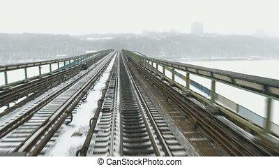 Transportation by rail.