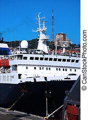 Transportation cars on the ship