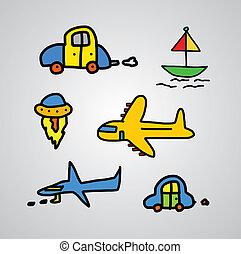 transportation cartoon sketch