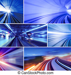 Transportation - Collage of transportation concept photo. ...