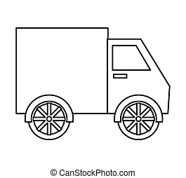 transportation concept. delivery design . truck  icon. Vector gr