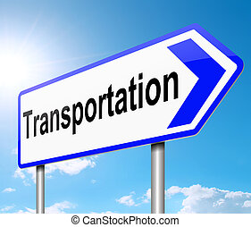 Transportation concept. - Illustration depicting a sign with...
