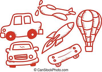 transportation doodle