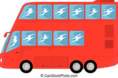 transportation double decker bus - red level bus for mass ...