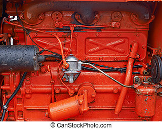 Transportation engine motor background