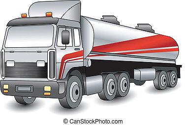 Transportation gasoline, oil of distant following, cargo illustration