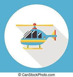 transportation helicopter flat icon