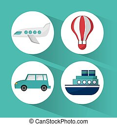 Transportation icon design - Tranport concept with vehicle...