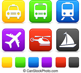 Transportation icon on internet buttons