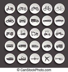 Transportation icon set. vector