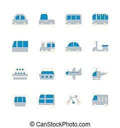 Transportation icon set. Vector illustration