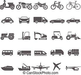 Transportation icon set.vector