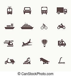 Transportation icons design elements
