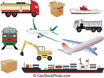 Transportation icons - Transportation set. Vector...