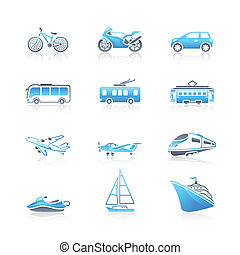 Transportation icons | MARINE serie - Modern and vintage...