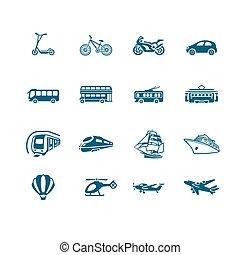 Transportation icons | MICRO series