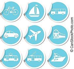 Transportation icons