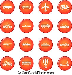 Transportation icons vector set
