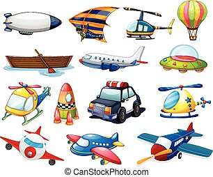 Transportation - illustration of different kind of...