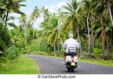 Transportation in Aitutaki Cook Islands - AITUTAKI - SEP...