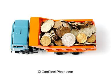 Transportation money isolated on a white background