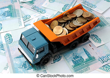 Transportation Money - Transportation of small coins for the...