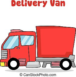 Transportation of delivery truck vector