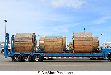 Transportation of metal products on road