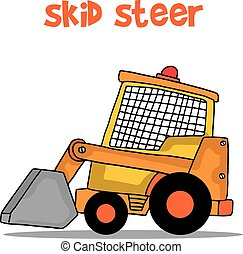 Transportation of skid steer vector