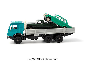 Transportation of toy cars for disposal