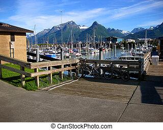 Transportation options in Valdez Alaska - Small boat harbor...