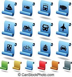 Transportation Scroll Set