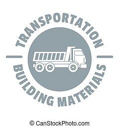 Transportation service logo, simple gray style