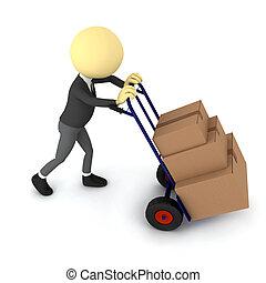 Transportation service. 3d rendered image
