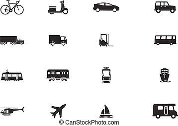 Transportation simply icons