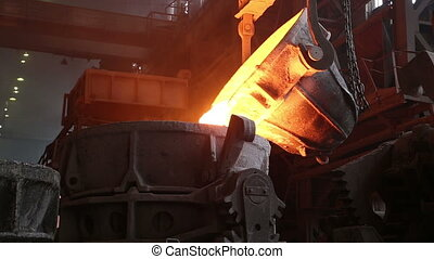 Transportation slag in metallurgical plant - Transportation...