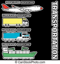 Transportation sticker for add text