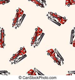 transportation theme firetruck elements vector, eps