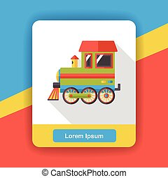 transportation train flat icon
