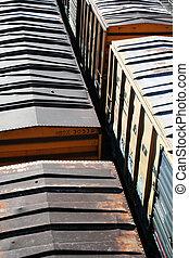 Transportation train rooftops